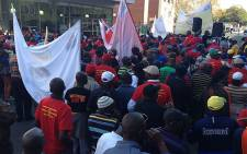Satawu members demand a salary increase in Parktown on 7 May 2013. Picture: Lesego Ngobeni/EWN