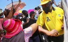 ANC president Cyril Ramaphosa in Mabopane on Friday, 15 October 2021. Picture: Fikile Mbalula/Twitter