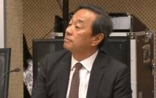 A screengrab of Bain's Stuart Min during the Sars inquiry in Pretoria. Picture: YouTube