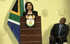 Newly appointed National Director of Public Prosecutions (NDPP) Shamila Batohi (L) and President Cyril Ramaphosa (R) on 4 December 2018. Picture: GCIS