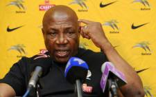 Bafana Bafana coach, Shakes Mashaba. Picture: Official PSL Facebook page.