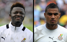 Ghana midfielders Sulley Ali Muntari (L) and Kevin-Prince Boateng have been suspended from the Ghanaian World Cup squad. Picture: Facebook.com