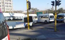 FILE: Taxis blocking the entrance to the Midrand Gautrain station. Picture: Khumu Thema/EWN.