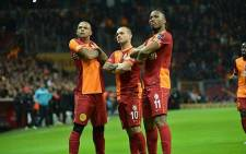 Galatasaray FC stars (L-R) Felipe Melo, Wesley Sneijder and Didier Drogba. Picture: Facebook.com