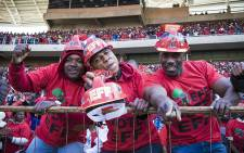 EFF supporters at the Peter Mokaba Stadium during the party's Tshela Thupa Rally in POlokwane. Picture: Thomas Holder/EWN.