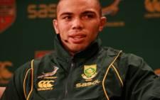 Springbok wing Bryan Habana wearing the new team kit. Picture: Taurai Maduna/Eyewitness News