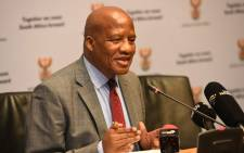 Minister in the Presidency Jackson Mthembu at a post-Cabinet briefing on 8 August 2019. Picture: GCIS