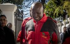 EFF leader Julius Malema leaves the house of former South African president Thabo Mbeki on 1 August 2016. The party met with Mbeki to canvas for his vote for the local government elections. Picture: Reinart Toerien/EWN