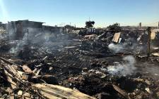 More than 250 people are homeless after a shack fire in in Claremont,  Johannesburg, on 6 August 2018. Picture: Mia Lindeque/EWN