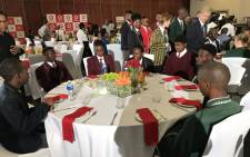 Top-performing matriculants at Vodaworld in Midrand for breakfast with Basic Education Minister Angie Motshekga on 7 January 2020. Picture: Thando Kubheka/EWN