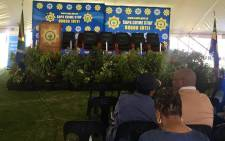 Gauteng community policing forum chairperson Thokazani Masilela was speaking at a safety imbizo at the Alexandra Stadium.  Picture: Kgomotso Modise/EWN.