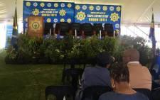 Gauteng community policing forum chairperson Thokazani Masilela was speaking at a safety imbizo at the Alexandra Stadium.  Picture: Kgomotso Modise/EWN.