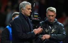 Manchester United's Portuguese manager Jose Mourinho reacts after the Champions League group H football match between Manchester United and Valencia at Old Trafford in Manchester, north west England, on 2 October 2018. The match ended in a draw at 0-0. Picture: AFP