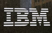 A general view of an IBM sign seen in New York. Picture: EPA.