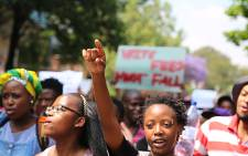 Hundreds of Wits University students protested for a third day over proposed tuition fee increases on 16 October 2015. Picture: Reinart Toerien/EWN