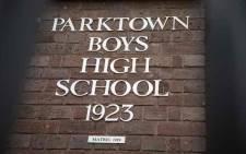 Parktown Boys' High School. Picture: Abigail Javier/EWN