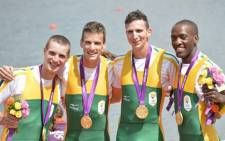 South African rowing team with their gold medals. Picture: Supplied
