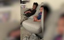 DJ Pryor and his 2-year-old son having a conversation about Empire. Source: Twitter