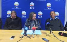 DA WC leader Patricia de Lille announcing coalition agreements in Port Albert, Beaufort West and Laingsburg. Picture: Xolani Koyana/EWN.