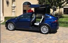 Tiffany Haddish's Tesla. Picture: Tiffany Haddish/Instagram.