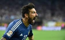 Argentina forward Ezequiel Lavezzi. Picture: AFP