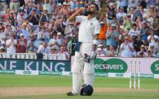 FILE: India's Virat Kohli celebrates scoring a century against England on 2 August 2018. Picture: @BCCI/Twitter