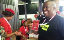 EFF leader Julius Malema at the party's first ever national conference in Bloemfontein on 13 December 2014. Picture: Twitter @HajraOmarjee.