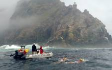 Fourteen seasoned open water swimmers were part of the Swim for Hope challenge, the largest group swim around Cape Point to date. Picture:  Mia Spies/EWN.