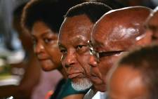 ROW OF LEADERS: Baleka Mbete, Kgalema Motlanthe & Jacob Zuma listen closely as nominations for the ANC's top six positions are announced on 17 December 2012. Picture: Aletta Gardner/EWN