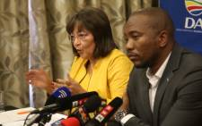 Mayor Patricia de Lille addresses the media after she resigned as Mayor of Cape Town on 5 August 2018. Picture: Bertram Malgas/EWN