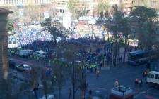 DA members march to Cosatu House in May, 2012 in support of the youth wage subsidy. Picture: Lauren Hansen/iWitness