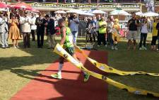 2013 Comrades Marathon winner Claude Moshiywa. Picture: @EnergadeSA via Twitter.