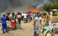 Around 100 shacks were gutted in a fire in the Msawawa informal settlement in the Kya Sand area. Picture: ER24 EMS @ER24EMS.