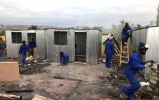 Structures have been rebuild in Tswelopele Informal Settlement in Tembisa following the earlier fire on Friday 18 May 2018. Picture: Supplied.