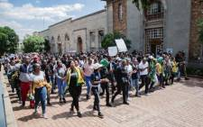 Wits University SRC leaders disrupted classes, calling on other students to demonstrate with them as they called for an end to the accommodation crisis at the institution on 4 March 2020. Picture: Sethembiso Zulu/EWN