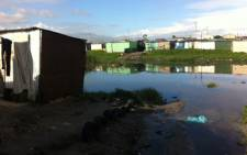 Flooded shacks in Khayelitsha, Cape Town after heavy rains. Picture: Rahima Essop/EWN