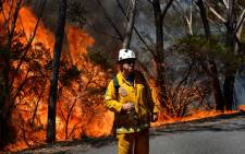 Extreme heat and high winds fanned dozens of bushfires across Australia. Picture: AFP.