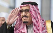 FILE: A handout picture provided by the Saudi Royal Palace on 13 December 2017, shows Saudi King Salman bin Abdulaziz arriving for the opening of the shura council ordinary session. Picture: AFP.