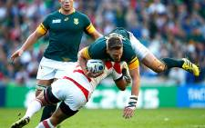 FILE: Former Springbok captain Jean de Villiers is tackled during a 2015 Rugby World Cup match. Picture: Supplied
