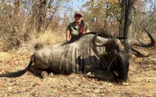 Sabrina Corgatelli poses with her kill. Picture: Facebook