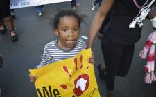 While marshals struggled to keep up with the thousands of people marching through the Joburg CBD, children as young as six marched and danced though the wall of people standing up for foreigners.