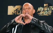 "Actor Vin Diesel poses in the press room at the 2017 MTV Movie and TV Awards"" At the Shrine Auditorium, in Los Angeles, California, on 7 May 2017. Picture: AFP."