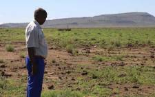 A farmer inspects his land, in the Free State. Picture: Christa Eybers/EWN.