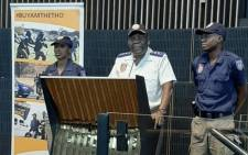 JMPD chief David Tembe (C). Picture: @AsktheChiefJMPD/Twitter.