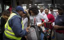 A TUT student is searched by security. Picture: Thomas Holder/EWN
