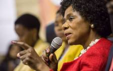 Advocate Thuli Madonsela during of her final press conference in Pretoria. Picture: Reinart Toerien/EWN.
