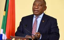 President Cyril Ramaphosa during his address on 27 June 2021, when he moved South Africa to alert level 4. Picture: GCIS