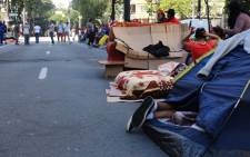 FILE IMAGE: Homeless camping outside the City Hall in Sao Paulo. Picture: Christa Eybers/EWN.