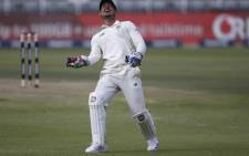South Africa's captain and wicketkeeper Quinton de Kock celebrates after catching a ball dismissing Sri Lanka's Kusal Mendis during the second day of the second Test cricket match between South Africa and Sri Lanka at the Wanderers stadium in Johannesburg on January 4, 2021. Picture: Phill Magakoe / AFP