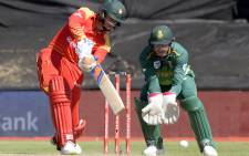 Zimbabwe's Sean Williams bats during the third One Day International cricket match between South Africa and Zimbabwe on 6 October 2018, at Boladnd Park, in Paarl, about 60 kilometres from Cape Town. Picture: AFP